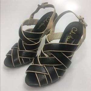 Cole Haan Whitney Strappy Leather Sandal Black 6.5